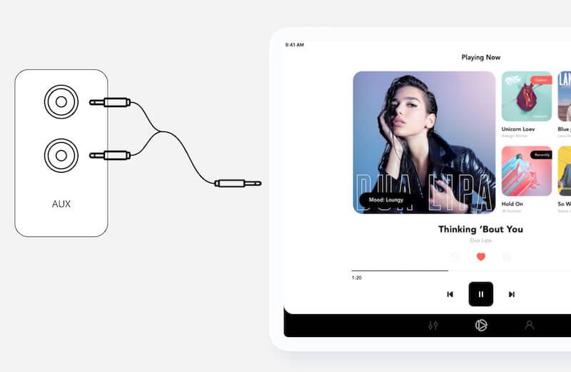 Schließen Sie Ihr iPad mit einem Stereokabel an Ihr Hifi an | Soundsuit - Musik für Unternehmen