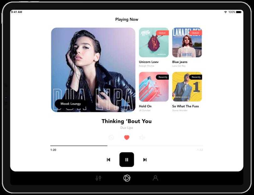 Soundsuit beste Streaming-Musik-App für Business iOS iPad Chromecast Musiccast kompatibel mit Sonos Playlist-Player für Store Bars Hotels Fitnessstudio Büro Veranstaltung