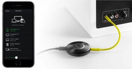 Chromecast-Funktion auf Android-Gerät zum Streamen von Musik vom Smartphone auf Chromecast-Audio-kompatible Lautsprecher